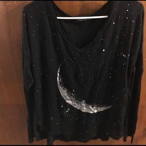 Black moon and star fashion nova top